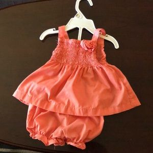 Other - Cute summer time peach dress with bottoms!